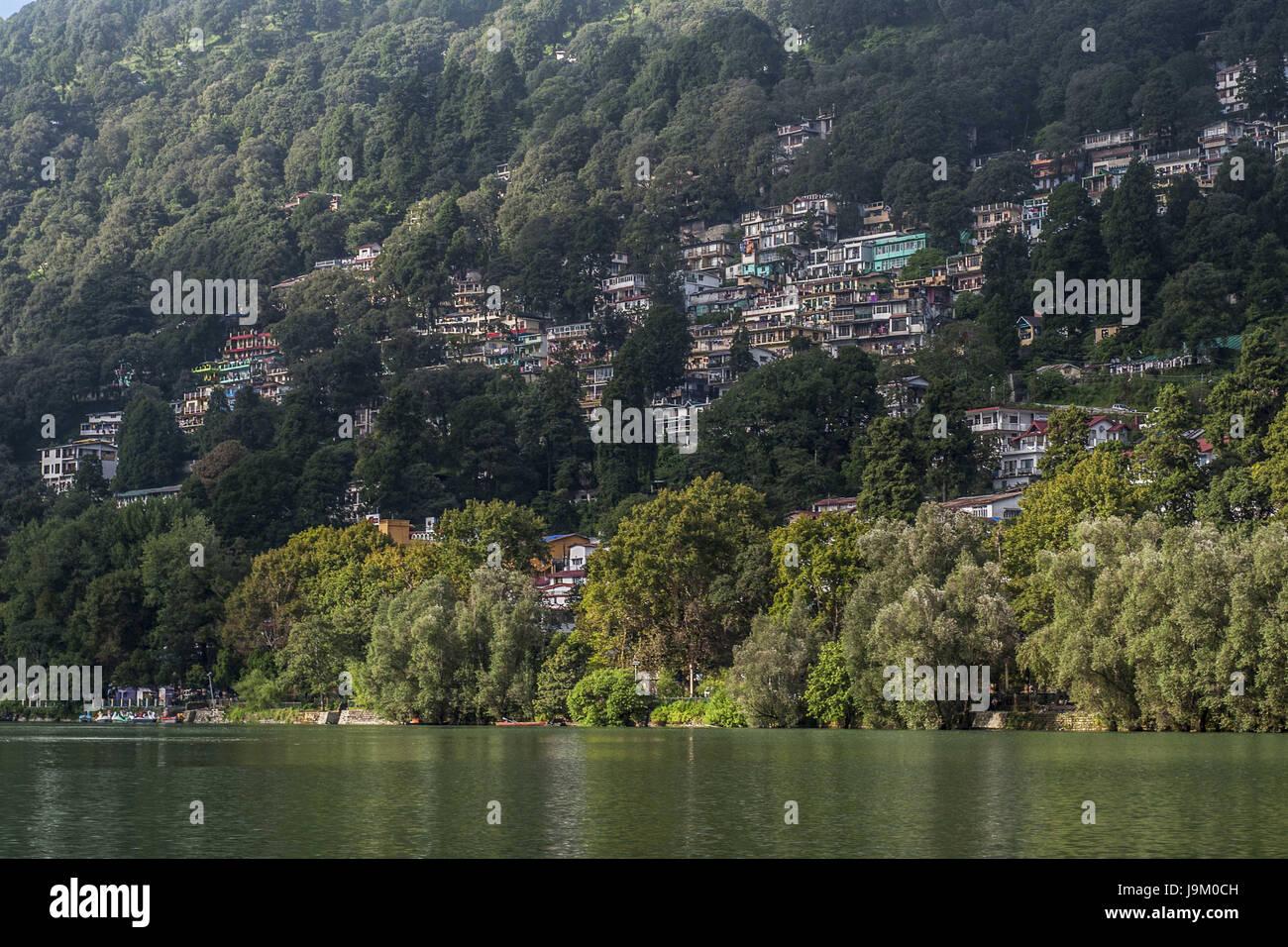 naini lake nainital uttarakhand india asia stock photo