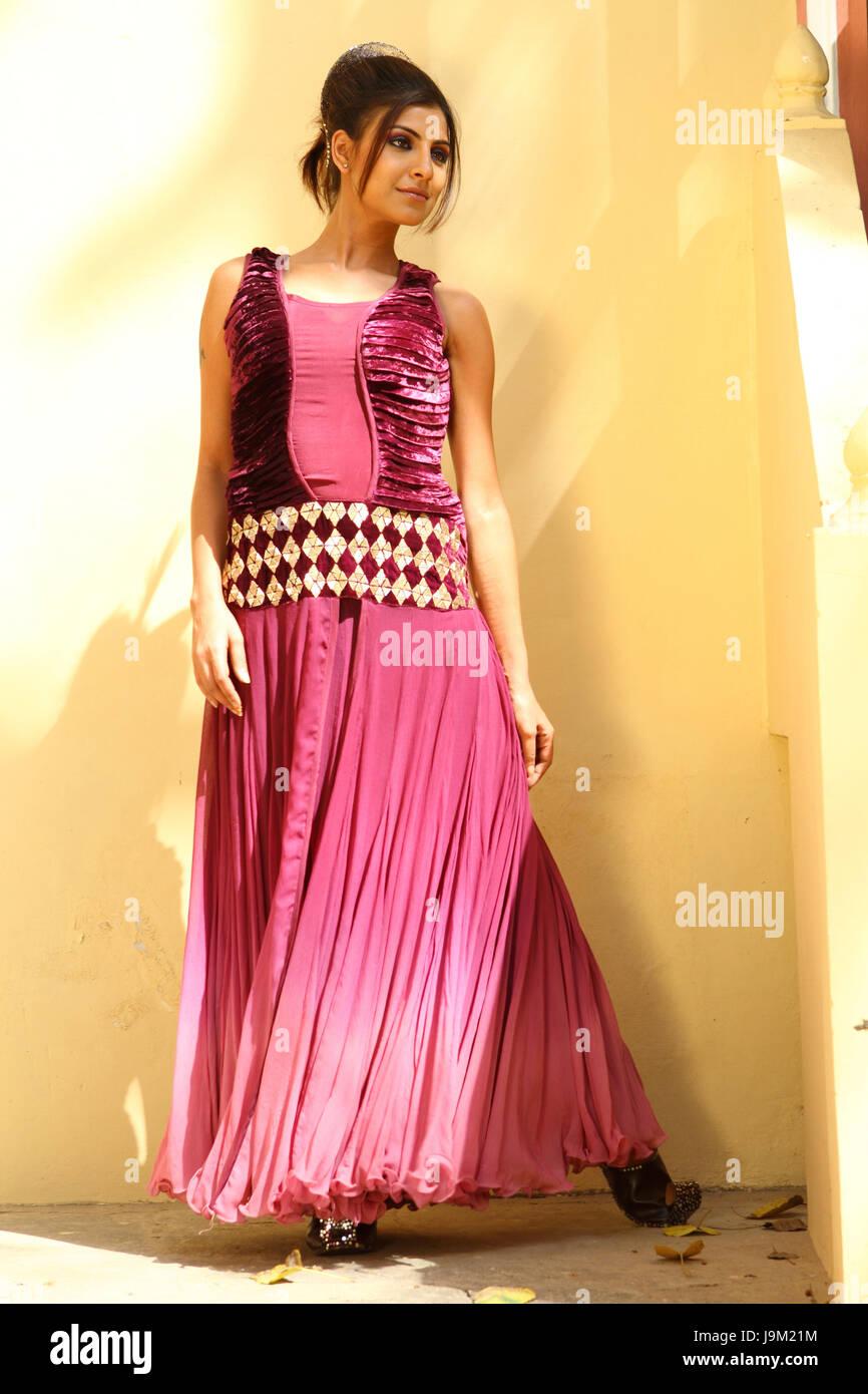 Indian female model, Pallavi, India, Asia, NOMR - Stock Image