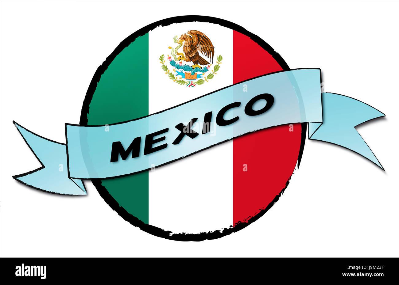 sombrero, banner, siesta, mexico, flag, trip, button, sombrero, banner, siesta, - Stock Image
