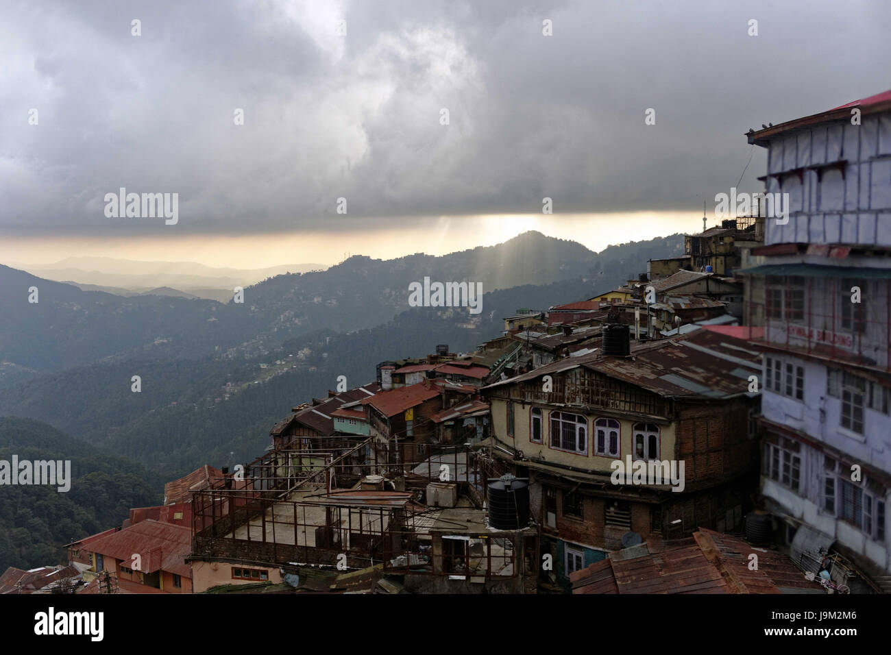 Shimla city, himachal pradesh, india, Asia - Stock Image