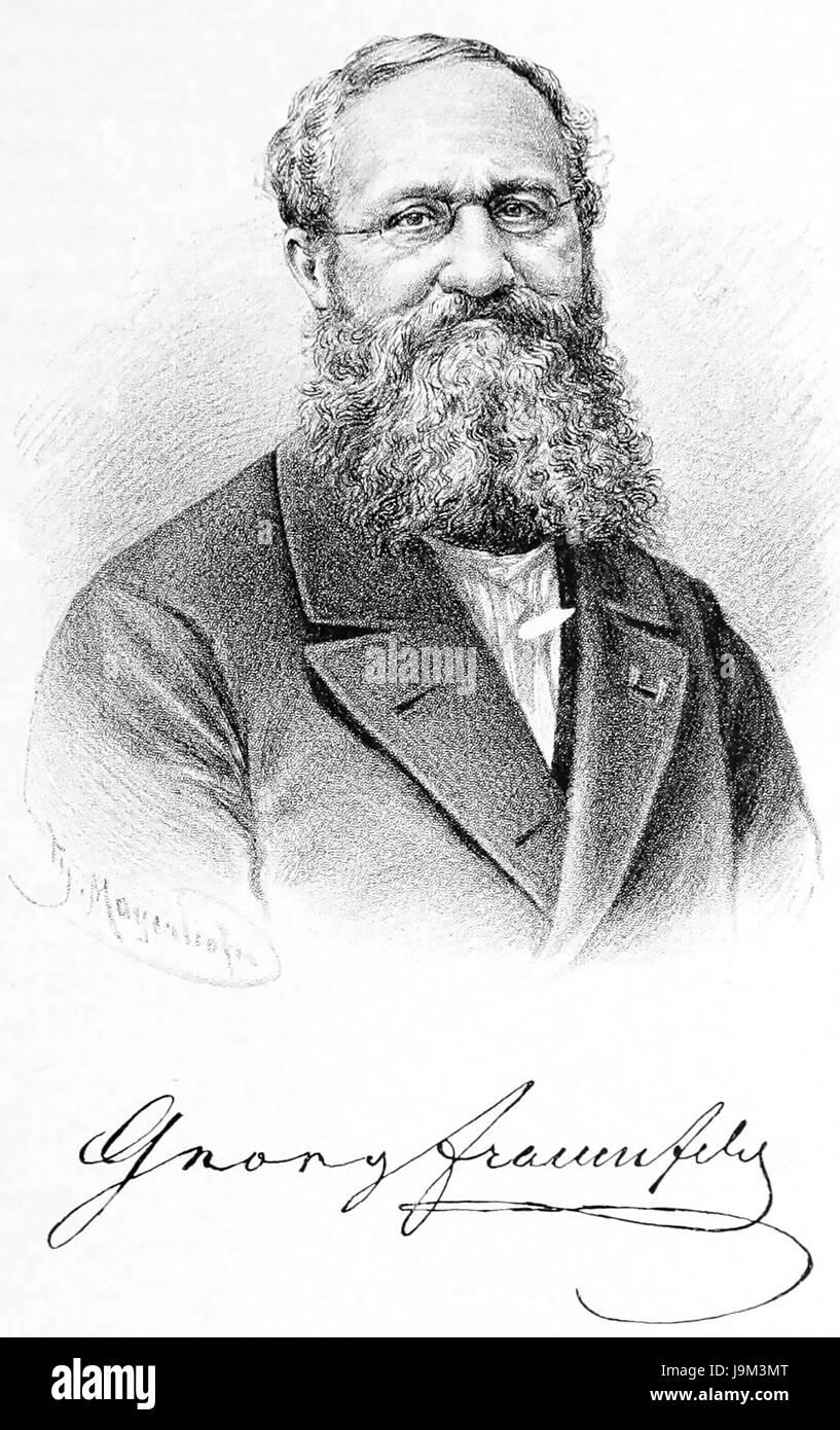 GEORG RITTER von FRAUENFELD (1807-1873) Austrian entymologist - Stock Image