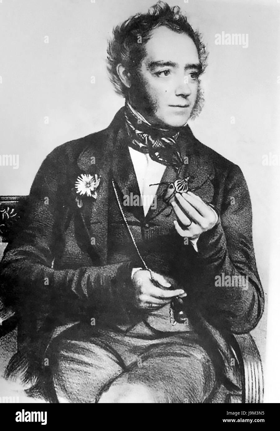 JOHN OBADIAH WESTWOOD (1805-1893) English entomologist - Stock Image