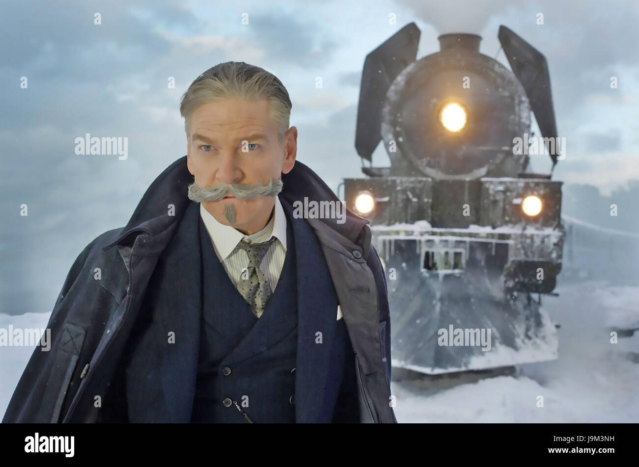 MURDER ON THE ORINET EXPRESS 2017 20th Century Fox film with Kenneth Branagh as Poirot - Stock Image