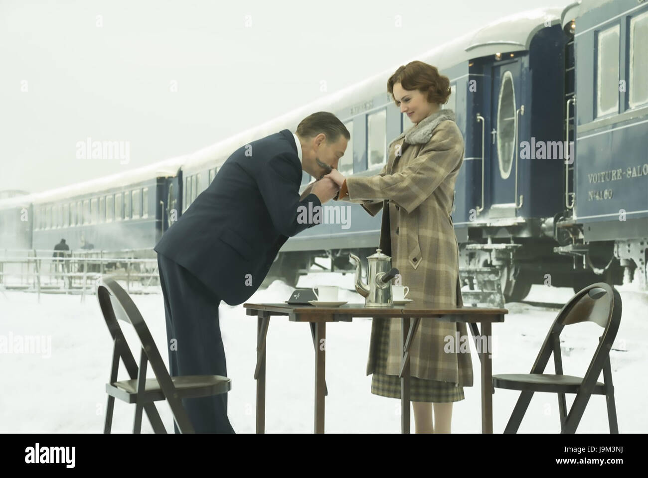 MURDER ON THE ORINET EXPRESS 2017 20th Century Fox film with Kenneth Branagh as Poirot and Daisy Ridley as Mary - Stock Image