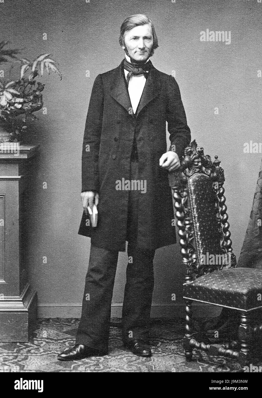 OSWALD HEER (1809-1883) Swiss naturalist and geologist about 1860 - Stock Image