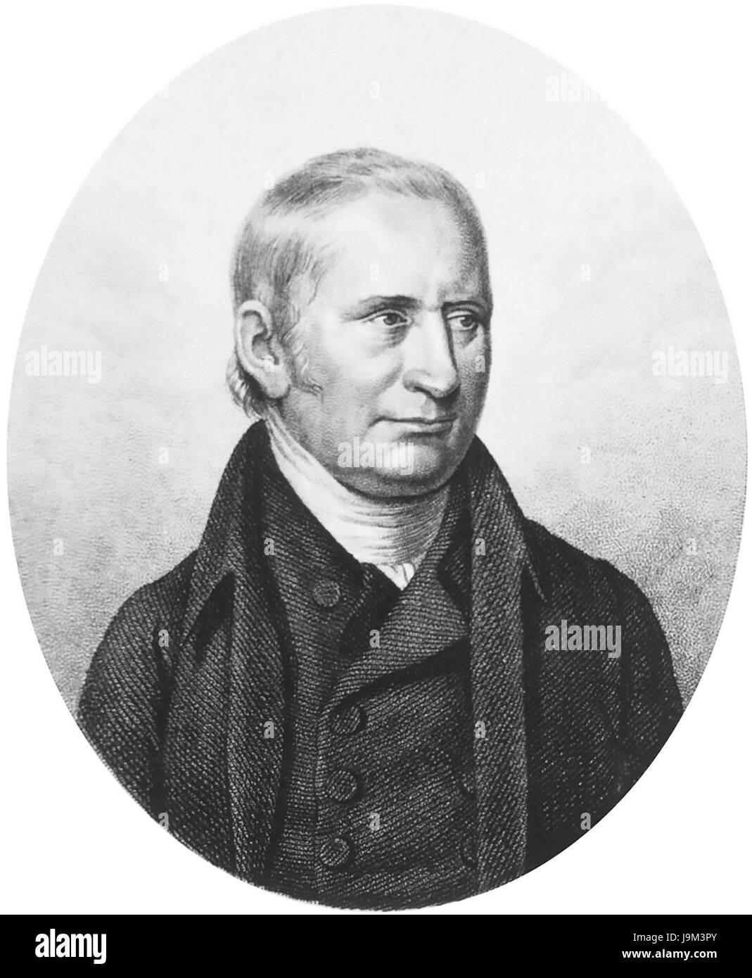 WILLIAM KIRBY (1759-1850) English entomologist - Stock Image