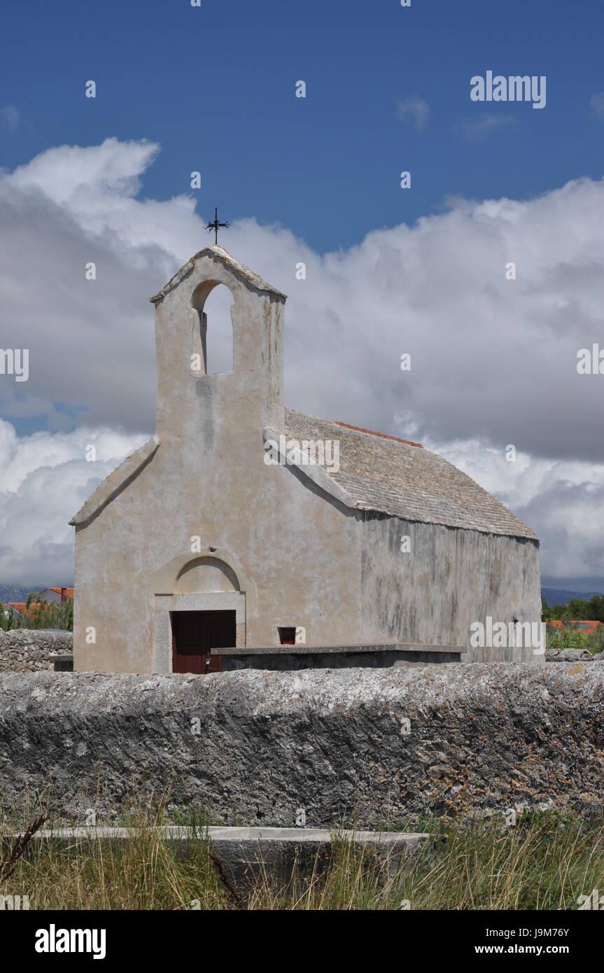 church sveta nikola in povljana Stock Photo
