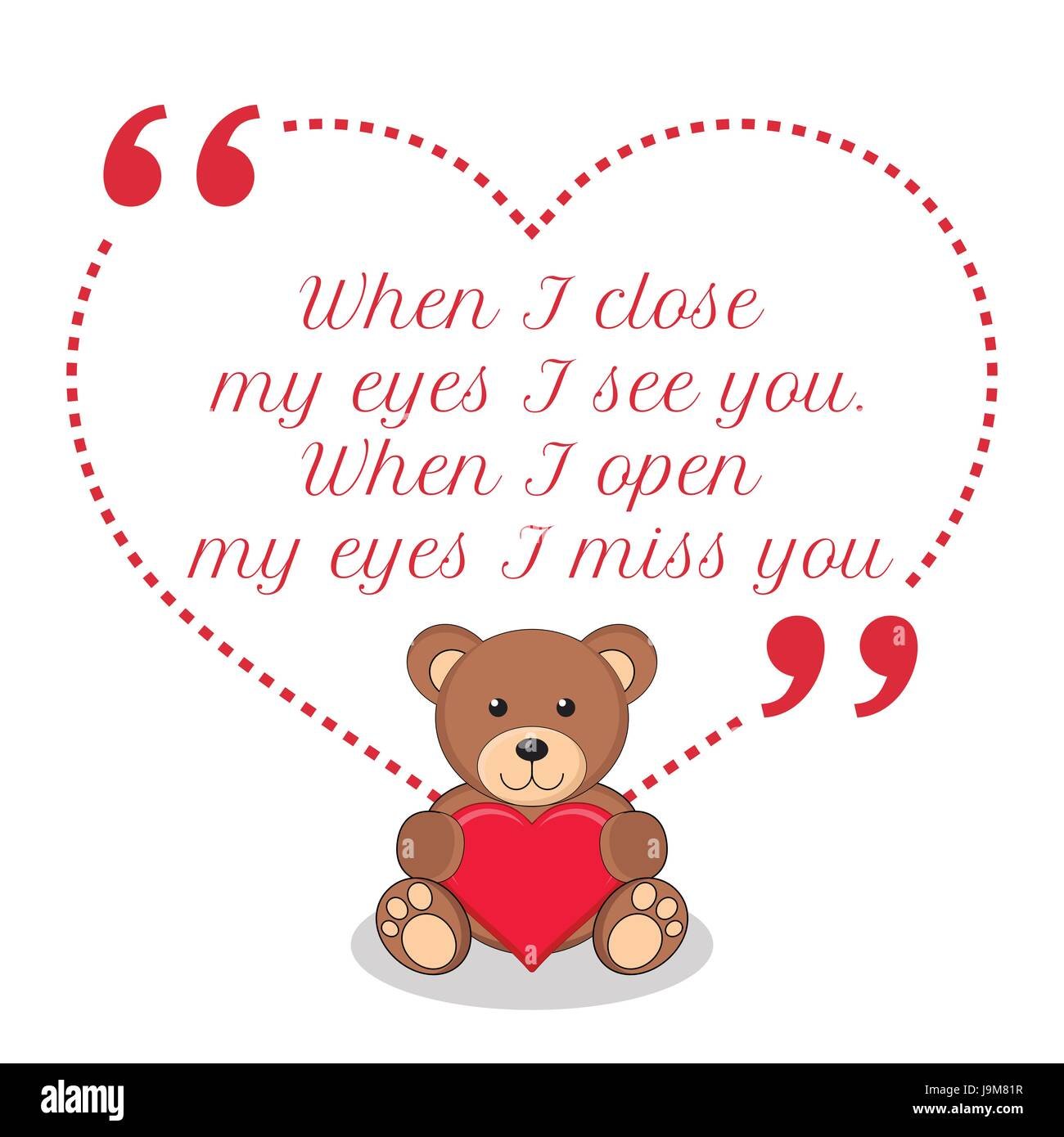 I Miss You Card Cut Out Stock Images Pictures Alamy