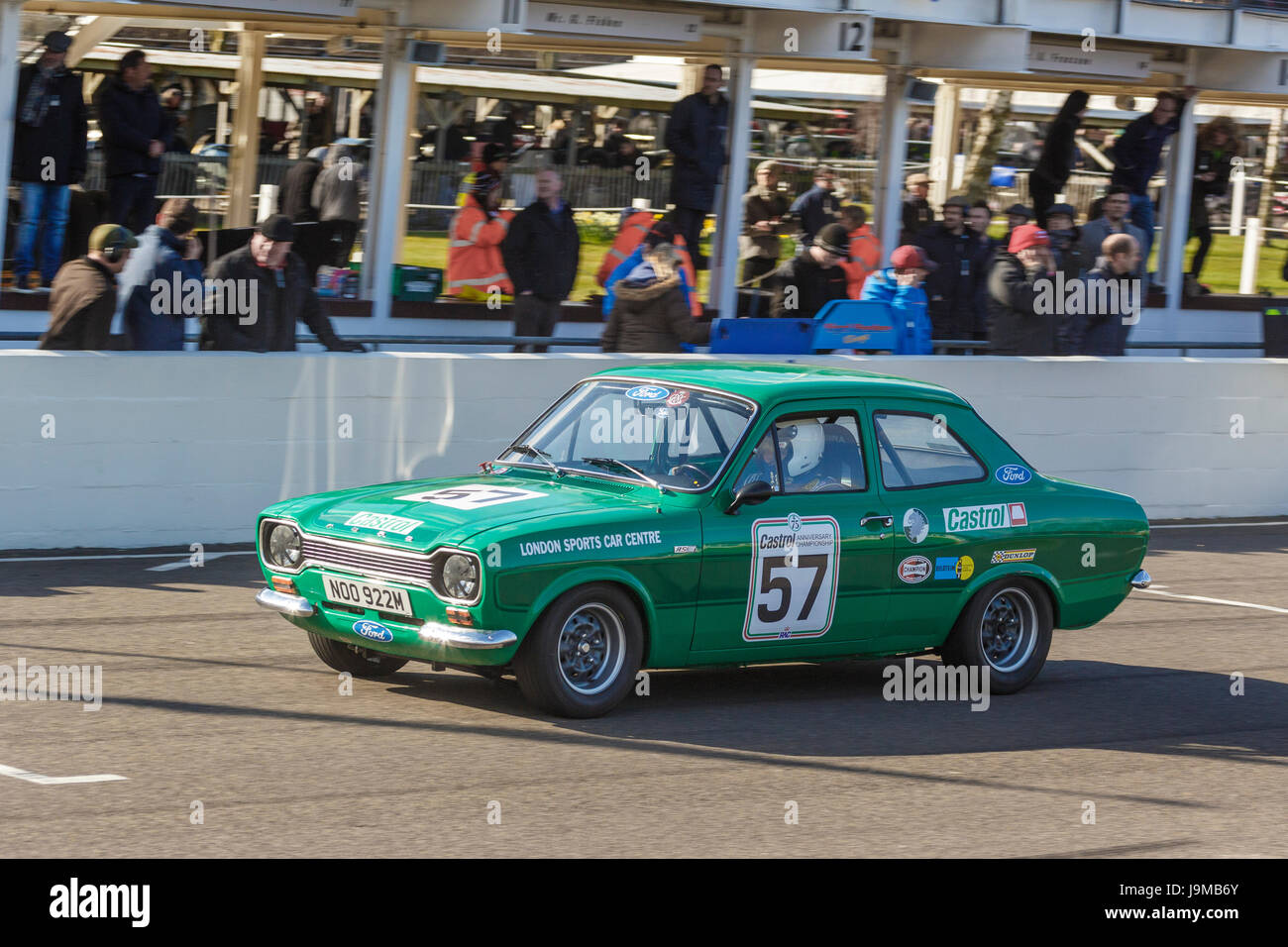 1974 Ford Escort RS2000 with driver Peter Clements during the Gerry Marshall Trophy race at Goodwood GRRC 74th Members - Stock Image
