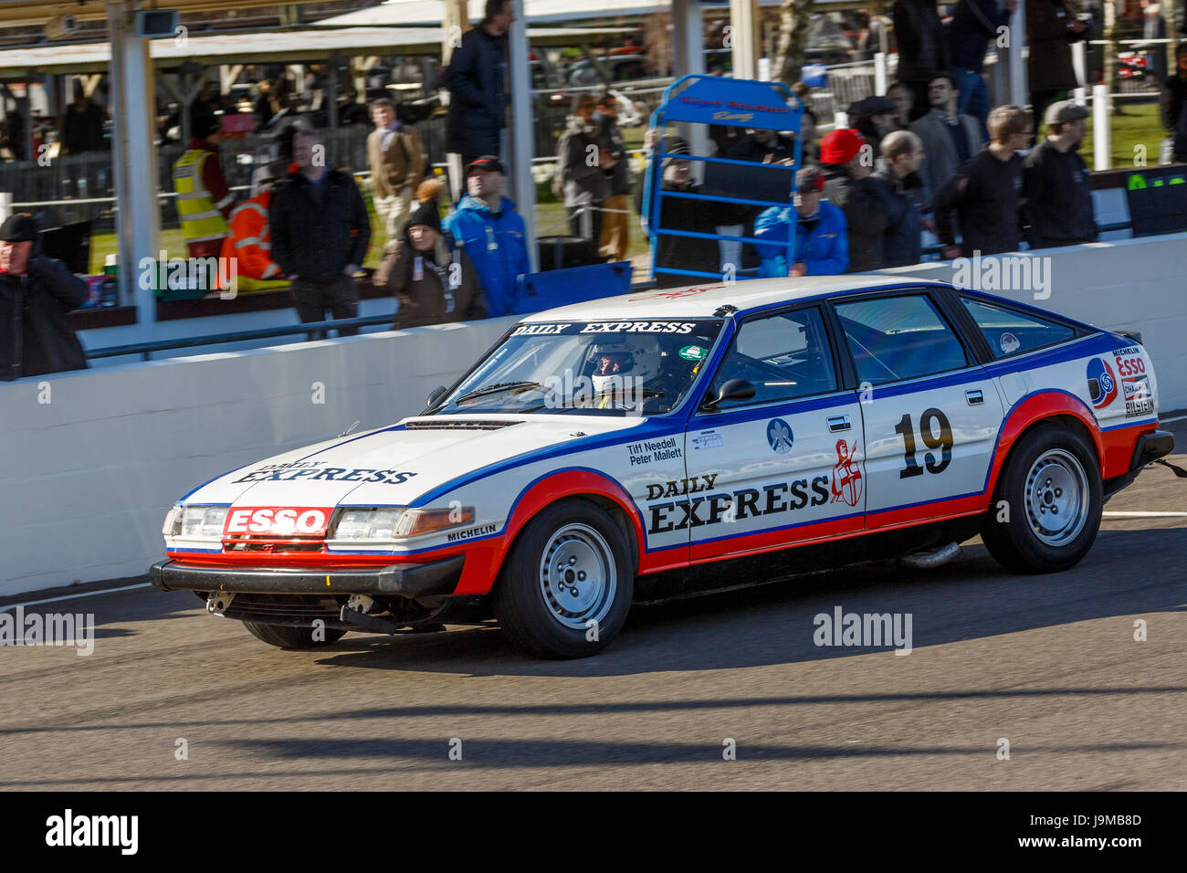 1981 Rover 3500 SDI with driver Peter Mallett during the gerry Marshall Trophy race at Goodwood GRRC 74th Members - Stock Image