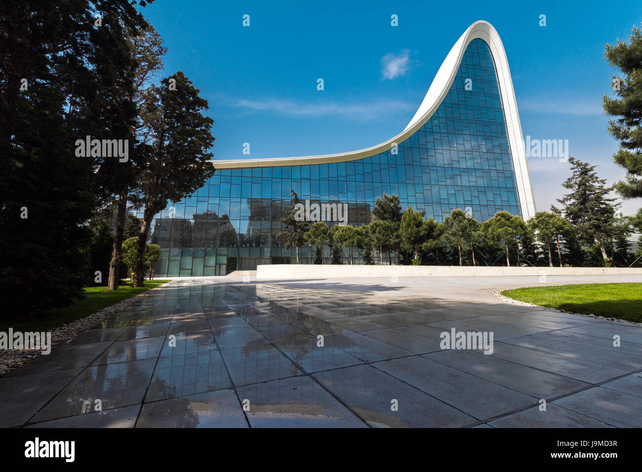 famous architecture in the world. Azerbaijan, Baku, May 20, 2017. Heydar Aliyev Center Building With Auditorium, Gallery Hall And Museum. Designed By World-famous Architect Zaha Hadid. Famous Architecture In The World B