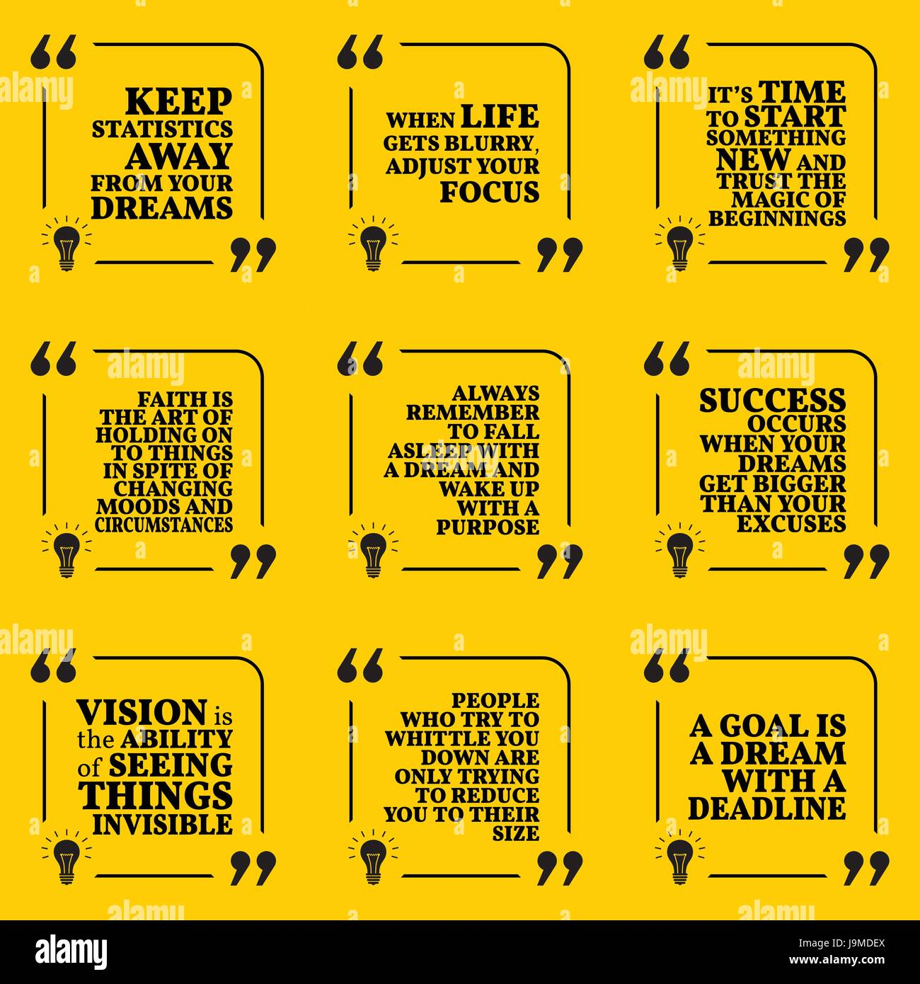 Set Of Motivational Quotes About Statistics Dreams Focus New Beginner Electronic Circuits Beginning Faith Purpose Success Vision And Deadline Simple Note Design Typography