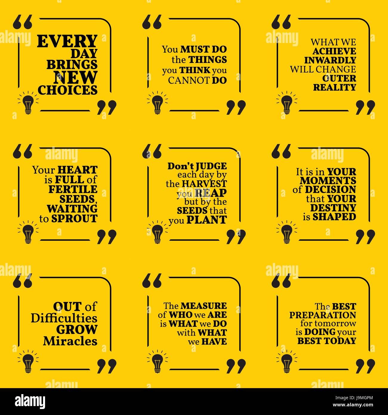 Set Of Motivational Quotes About Action Goals Achievement Success