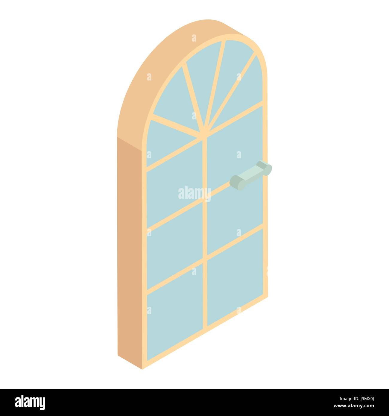 Arched Front Door Icon Cartoon Style Stock Vector Art