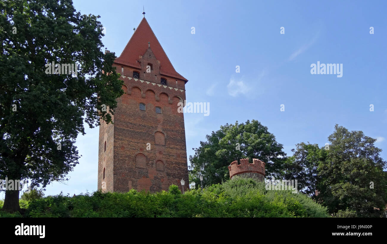 chapter tower tangermuende Stock Photo