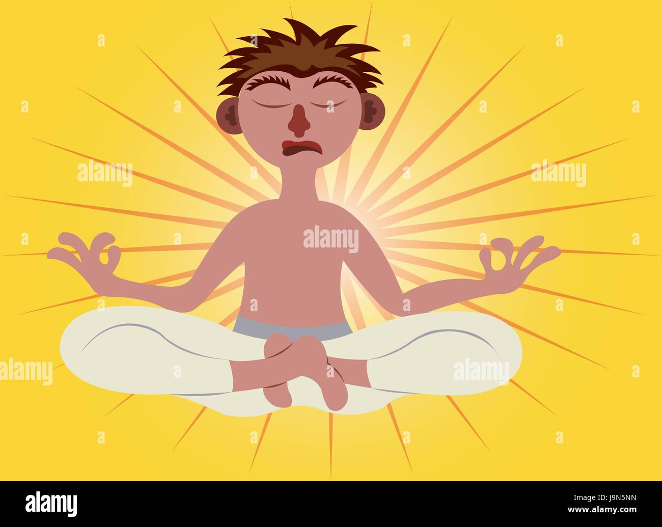 a spiritual man meditating - Stock Vector