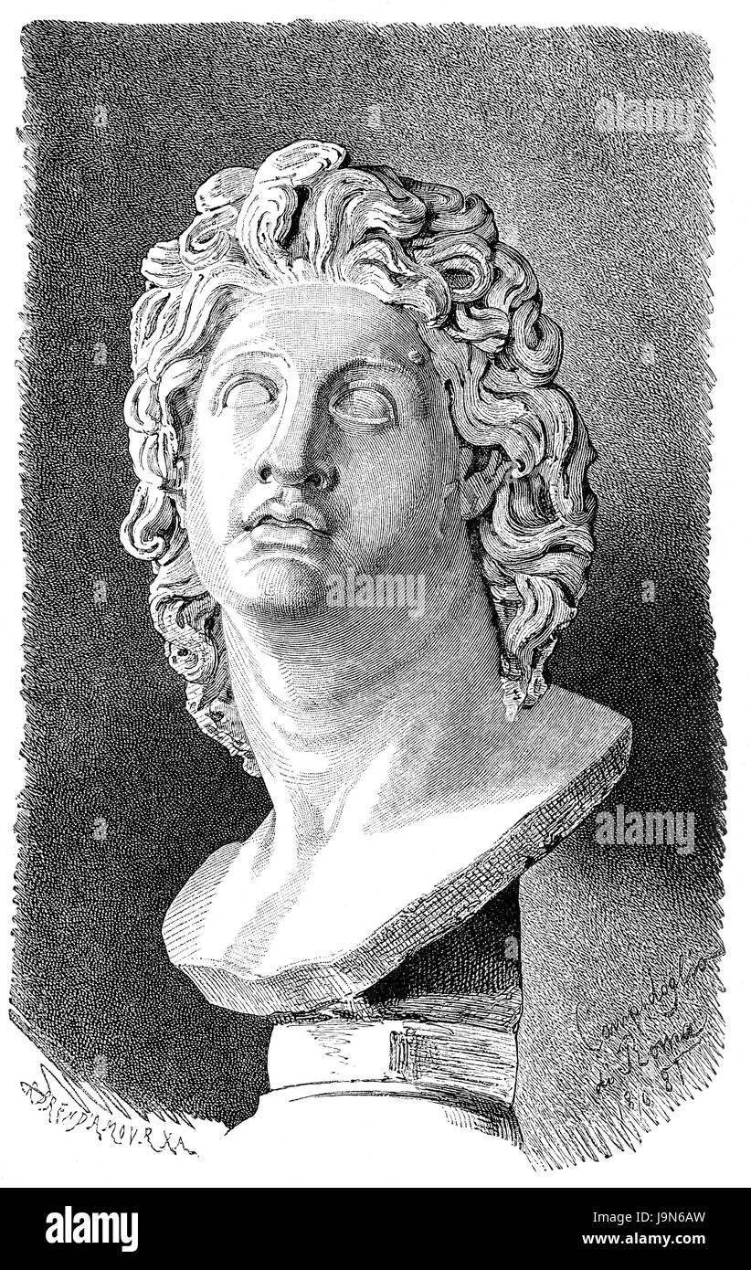 Alexander the Great or Alexander III of Macedon, 356-323 BC, king of Macedon - Stock Image