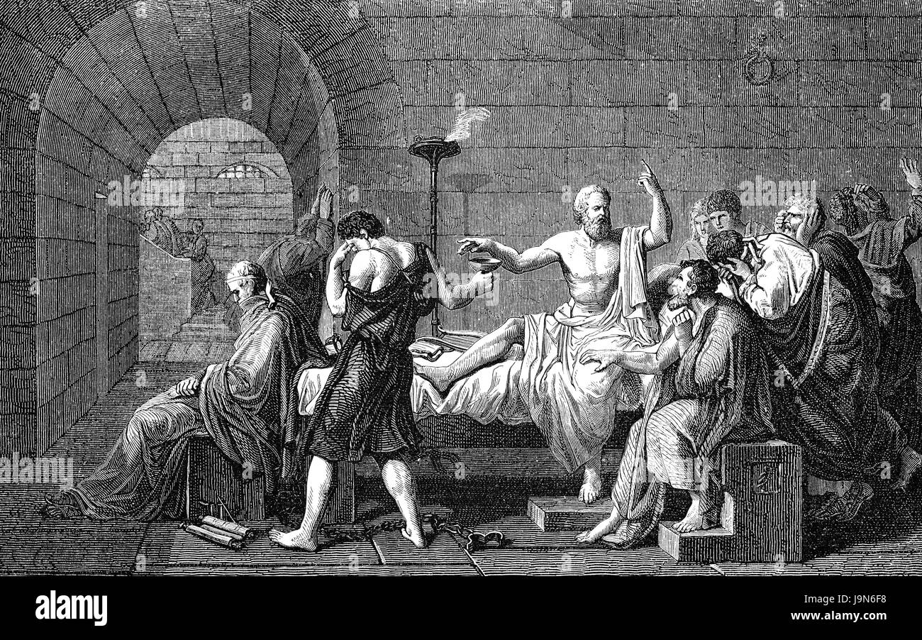 The Death of Socrates, 469-399 BC, philosopher of ancient Greece - Stock Image