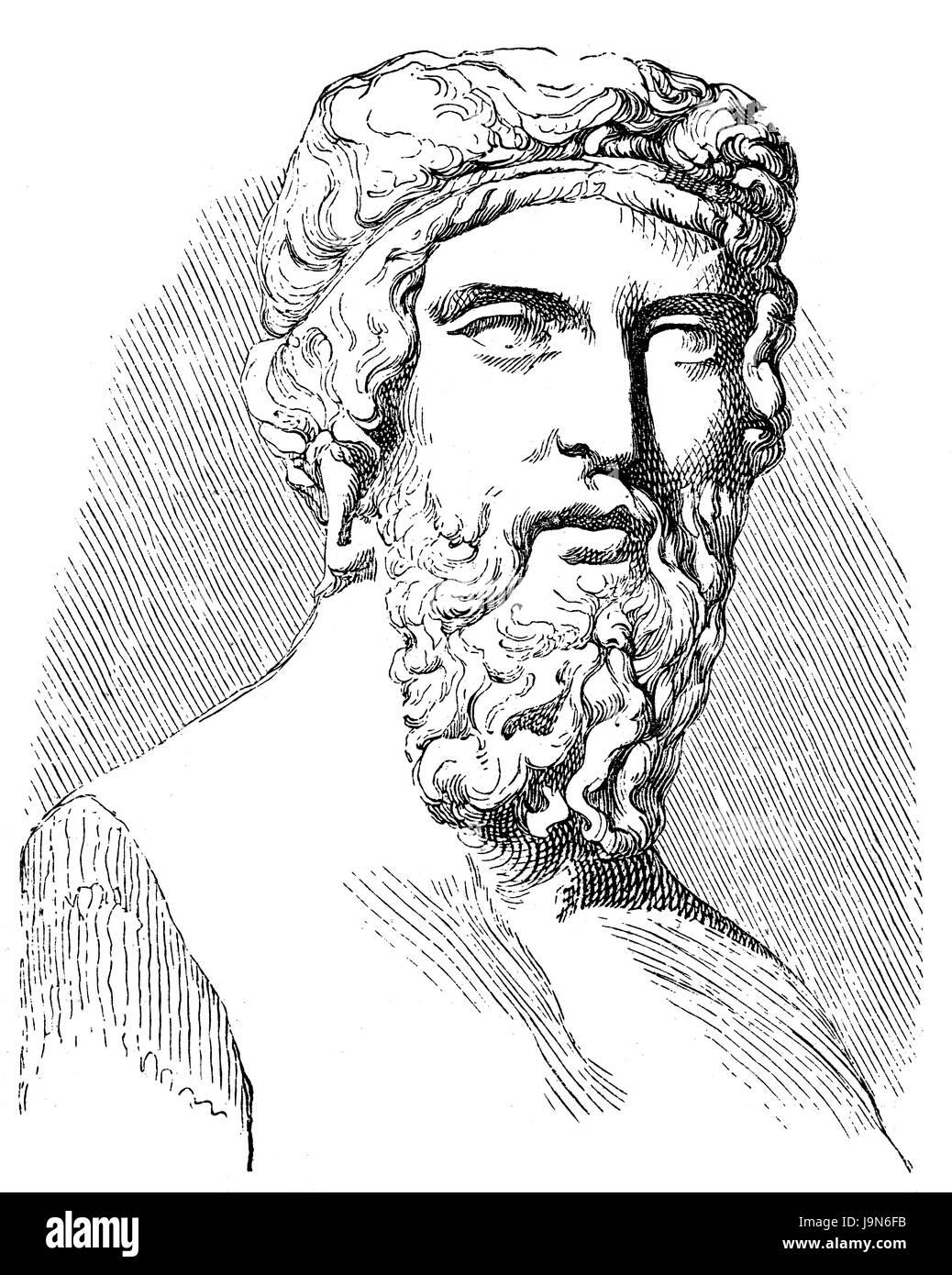 Platon or Plato, 428 BC - 348 BC, an ancient Greek philosopher - Stock Image