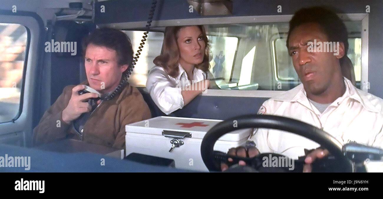 MOTHER, JUGS & SPEED 1976 Twentieth Century Fox film with from left: Harvey Keitel, Raquel Welch, Bill Cosby - Stock Image