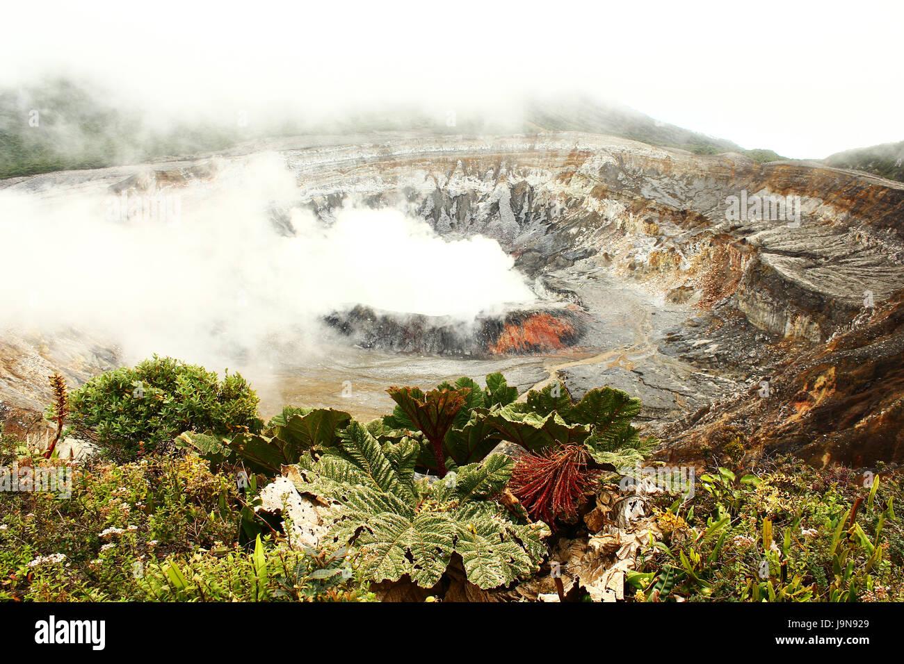 Picture of Volcano Poas in Costa Rica - Stock Image