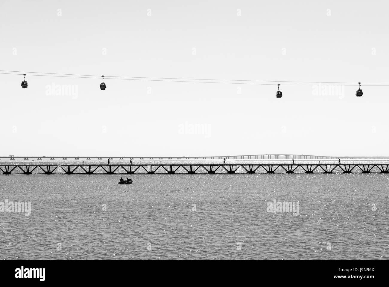 Cable Cars (Parque das Nações), Lisboa - Stock Image