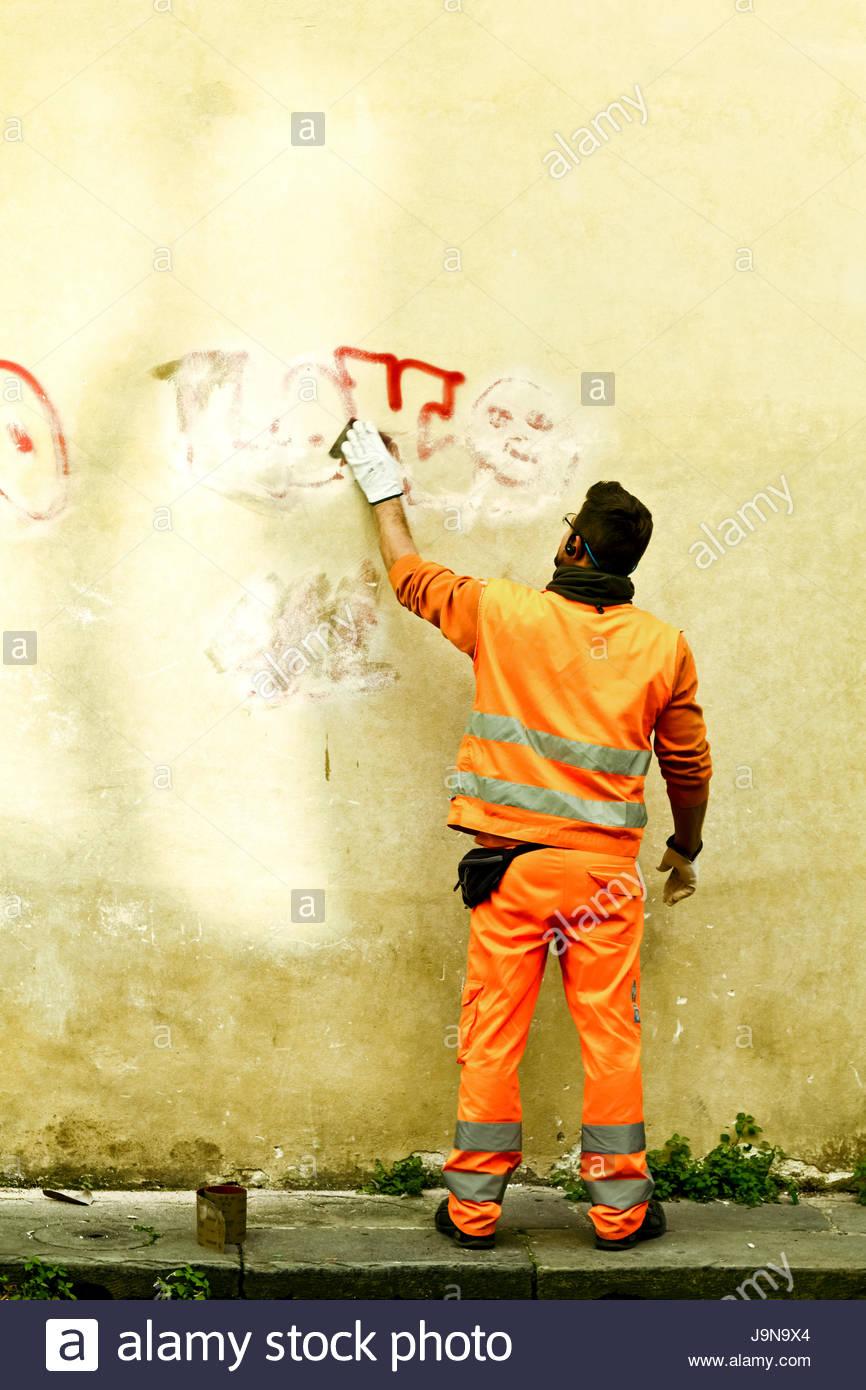 Reparaciones de fachadas - Stock Image
