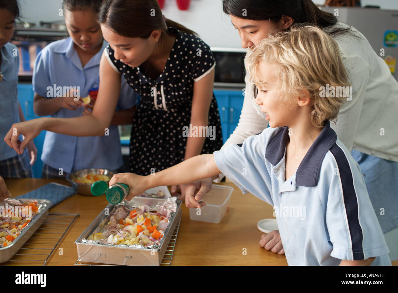 Bangkok, Thailand - November 23, 2012 : in a college in Bangkok Thailand. Young students take an introductory course Stock Photo