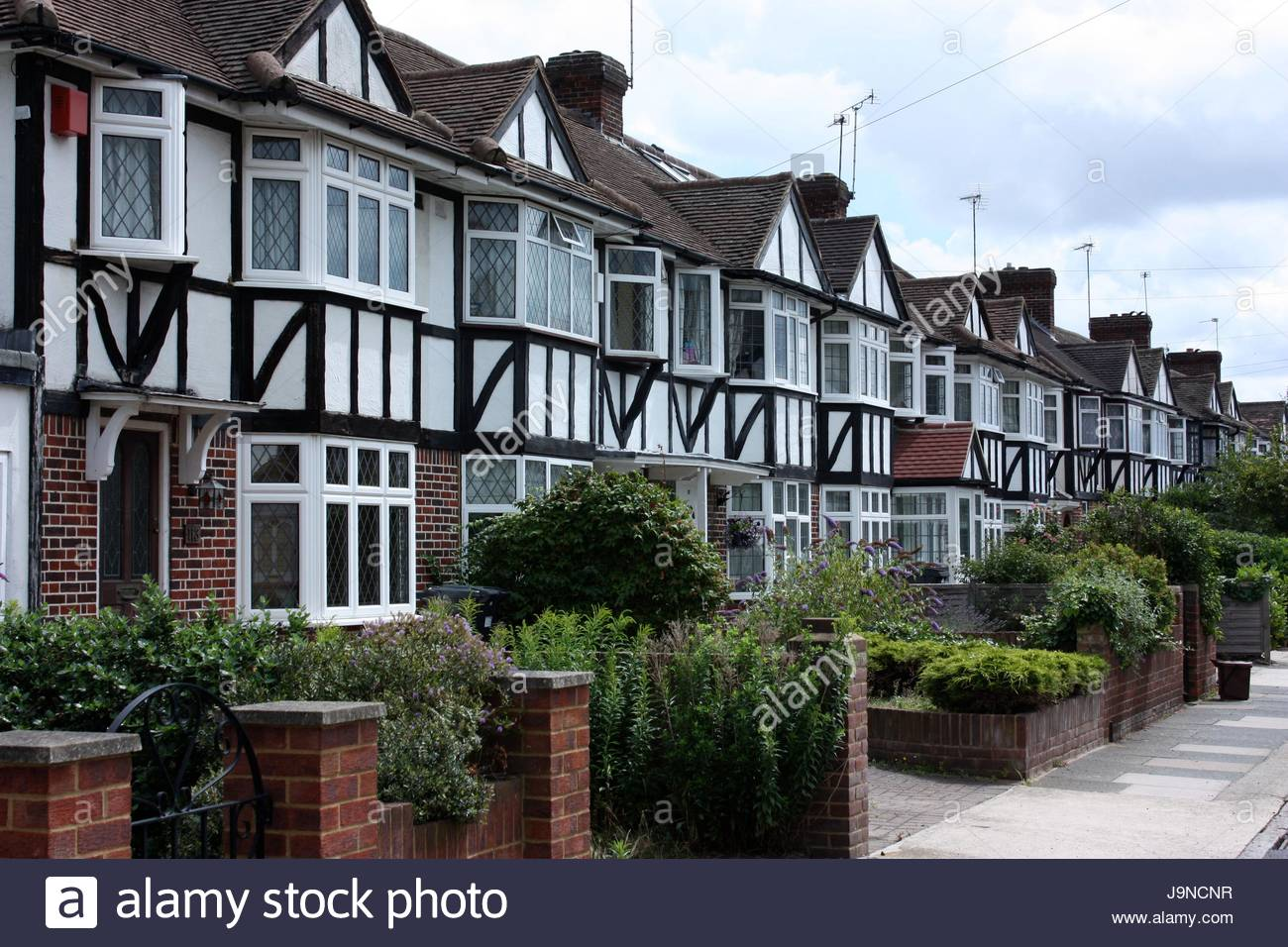 Mock Tudor Suburbs, London - Stock Image
