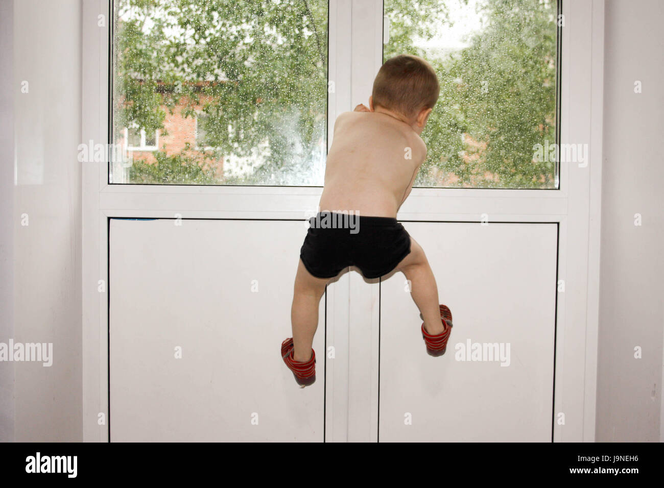 forlornness. Child claustrophobia. Photo for your design - Stock Image