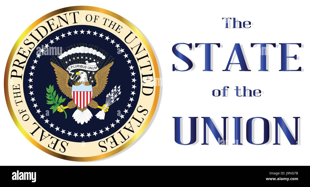 A Depiction Of The Seal Of The President Of The United States Of Stock Vector Image Art Alamy