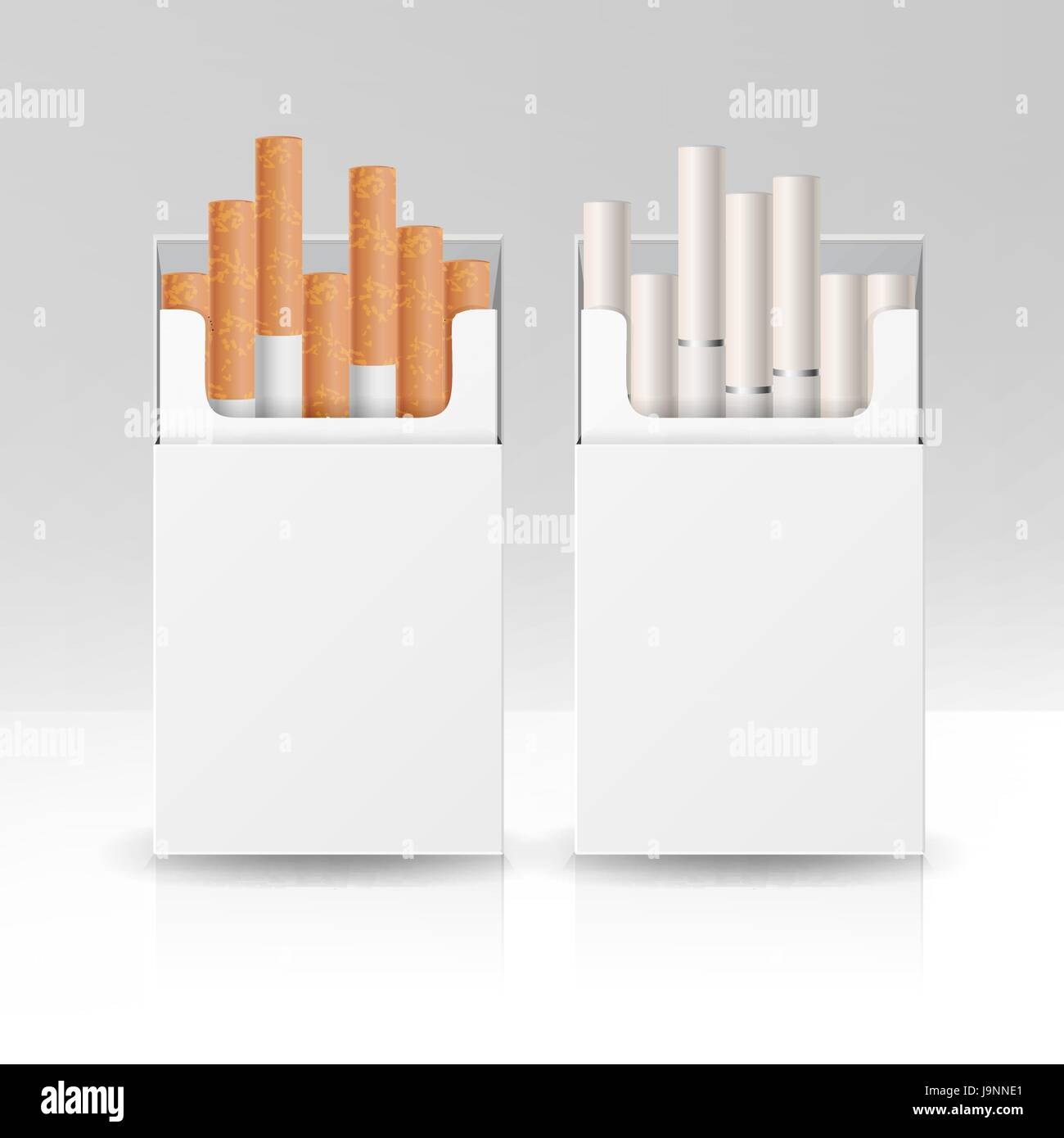 blank pack package box of cigarettes 3d vector template for design