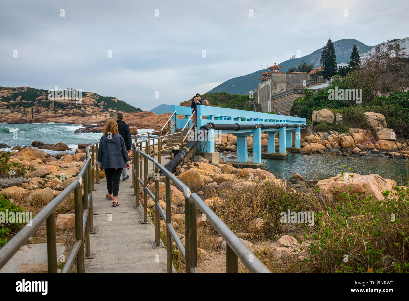 Shek-O, Blue Bridge and Coastline, Hong Kong - Stock Image