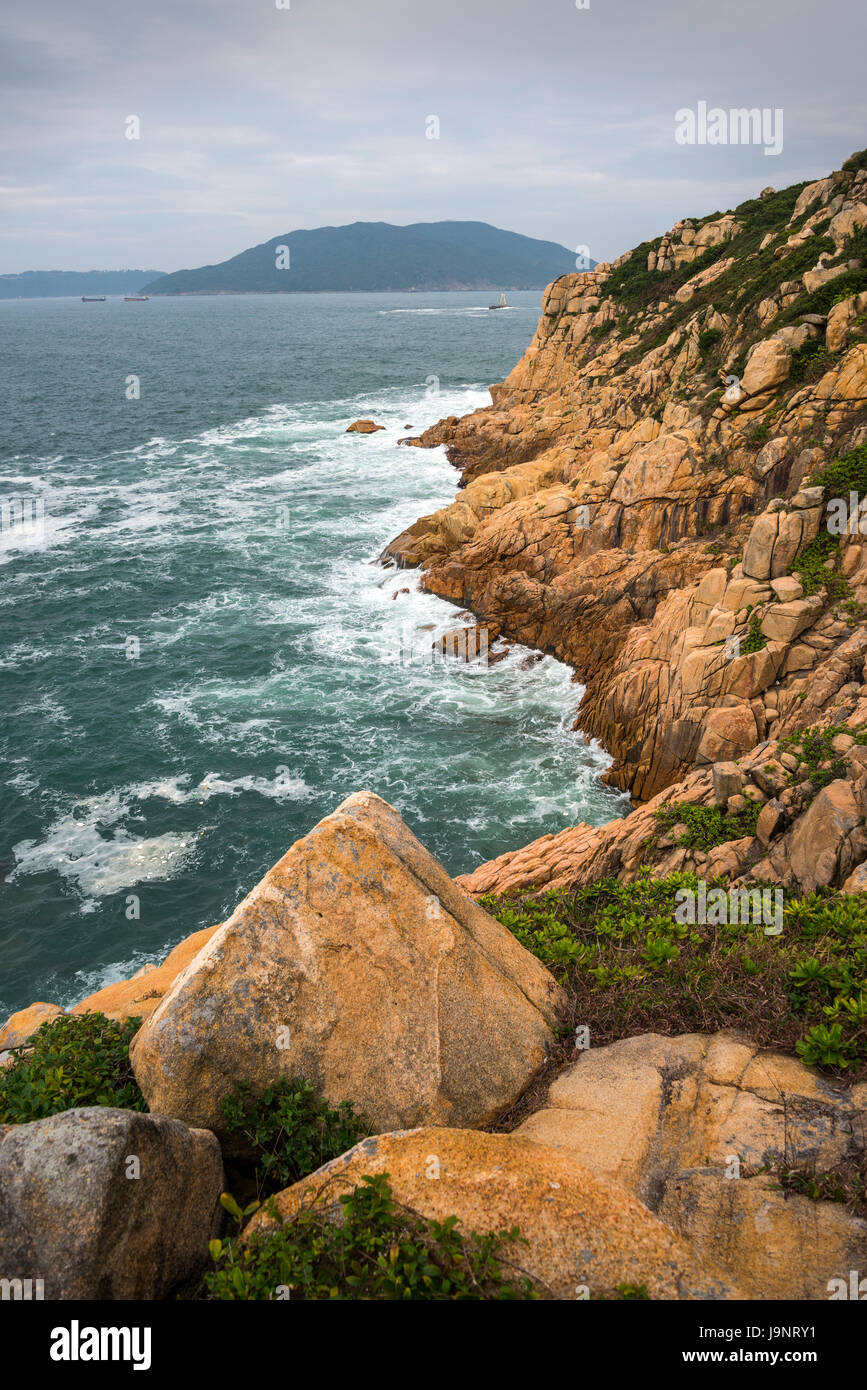 Shek-O Coastline and Islands, Hong Kong - Stock Image