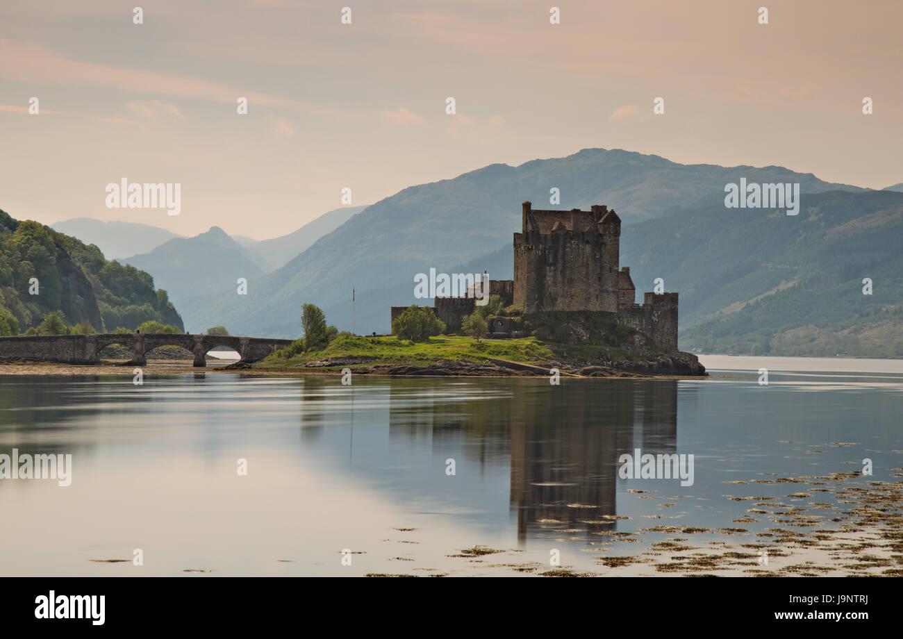 bridge, scotland, british, castle, ancient, building, chateau, stone, bridge, Stock Photo