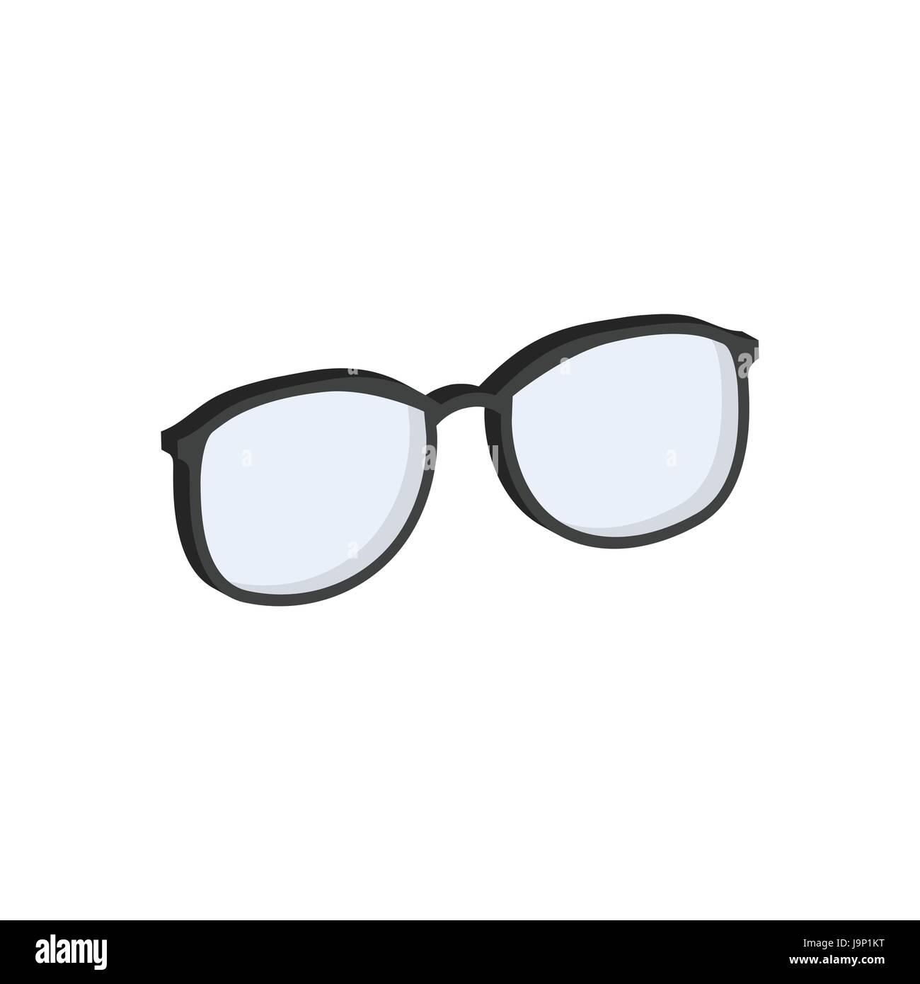 Glasses Eyeglasses Symbol Flat Isometric Icon Or Logo 3d Style