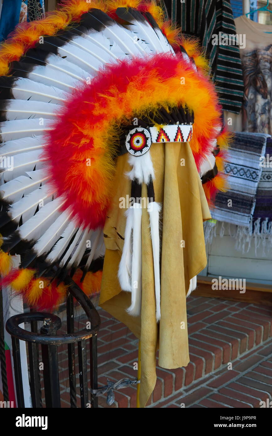 Native American Feather Headdress - Stock Image