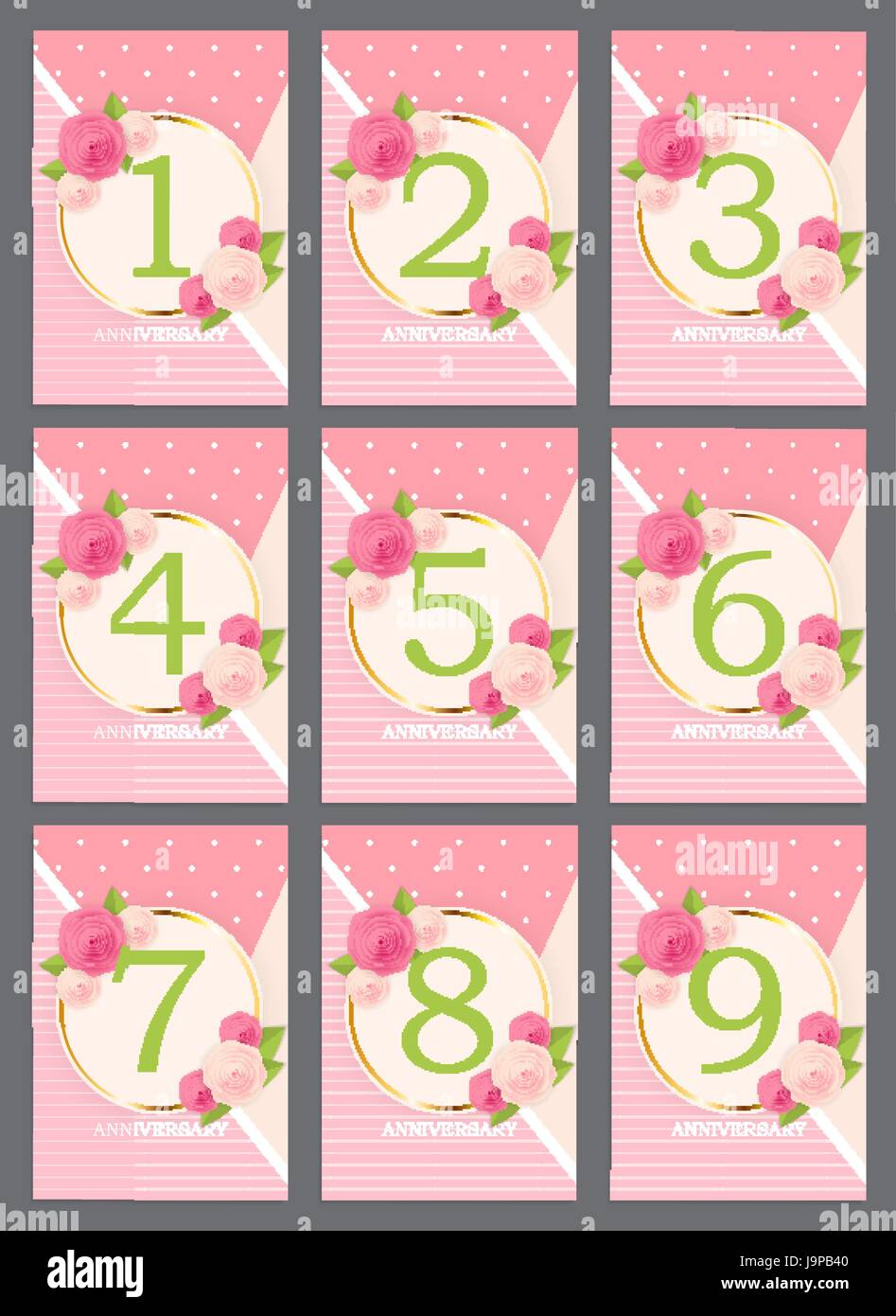 Template Anniversary Congratulations Greeting Card