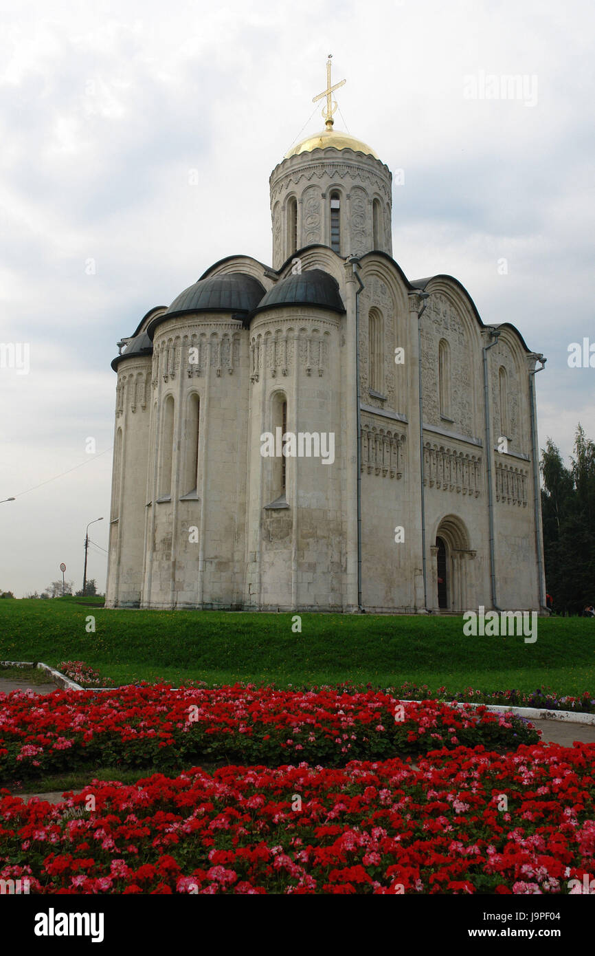 Russia,Vladimir,Demetrius Kathedrale,in 1193 A.D., - Stock Image