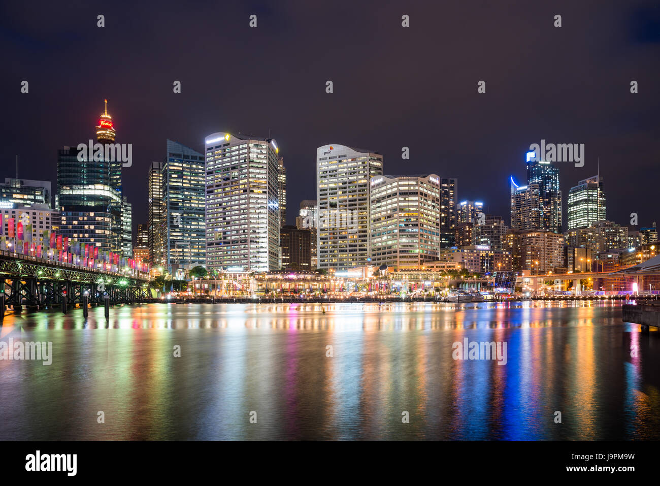 Cockle bay, Darling Harbour at dusk. Sydney, NSW, Australia. - Stock Image