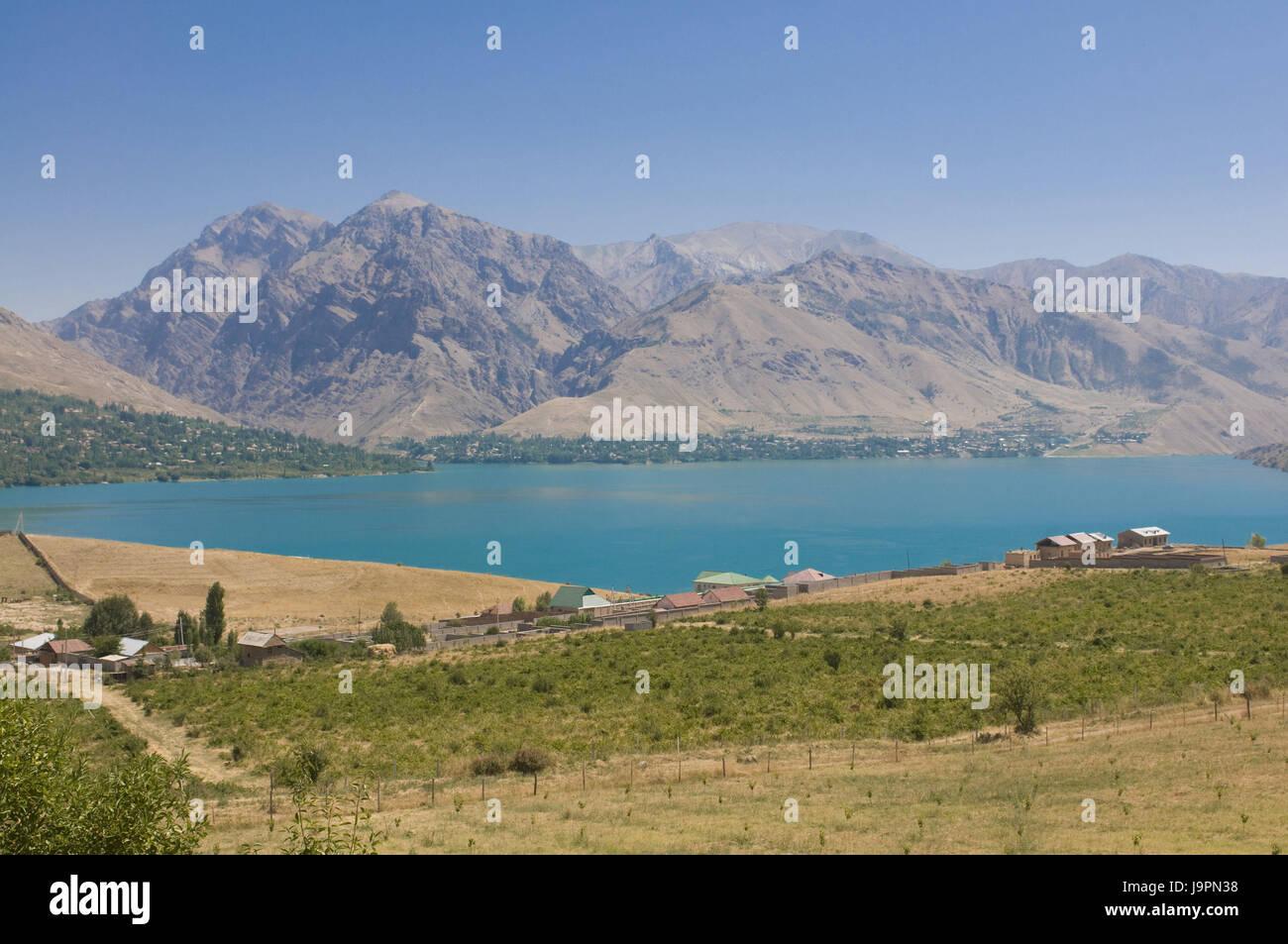 Chorvoq reservoir in the Ugam-Chatkal Nationwide park,Chimkar,Uzbekistan, Stock Photo