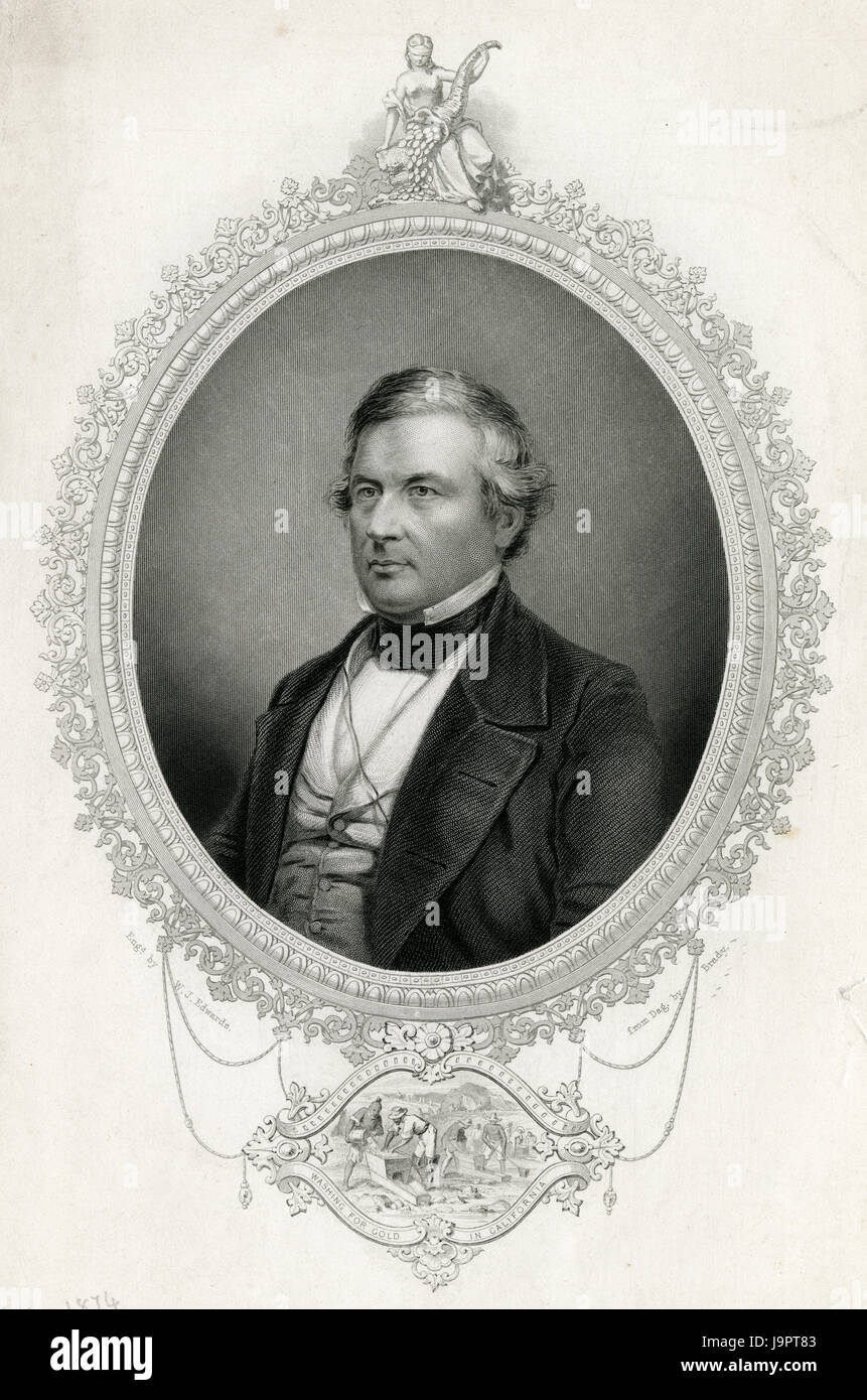 Antique 1837 engraving, Millard Fillmore. Millard Fillmore (1800-1874) was the 13th President of the United States Stock Photo