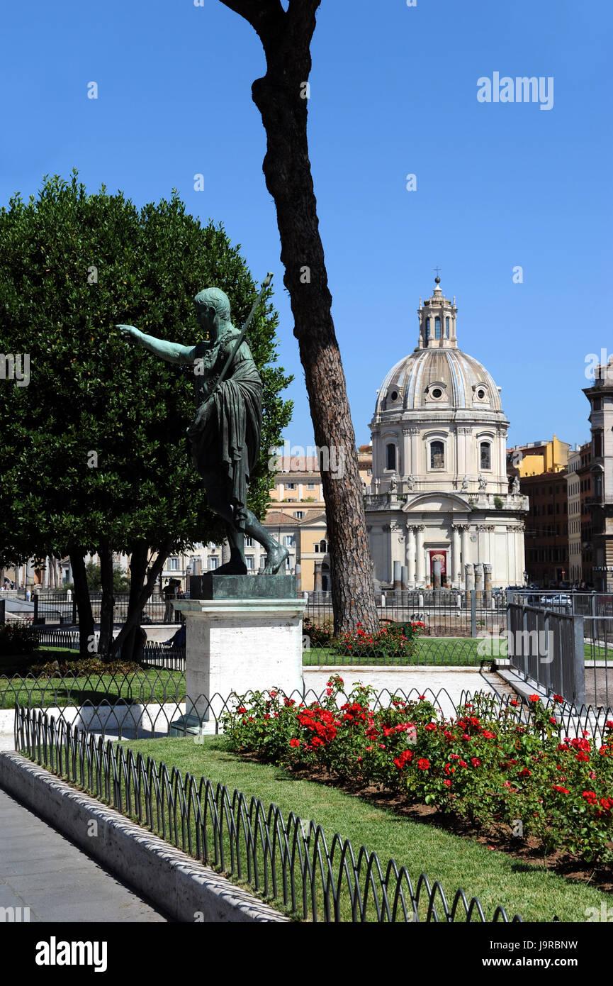 rome piazza venezia with emperor nero - Stock Image