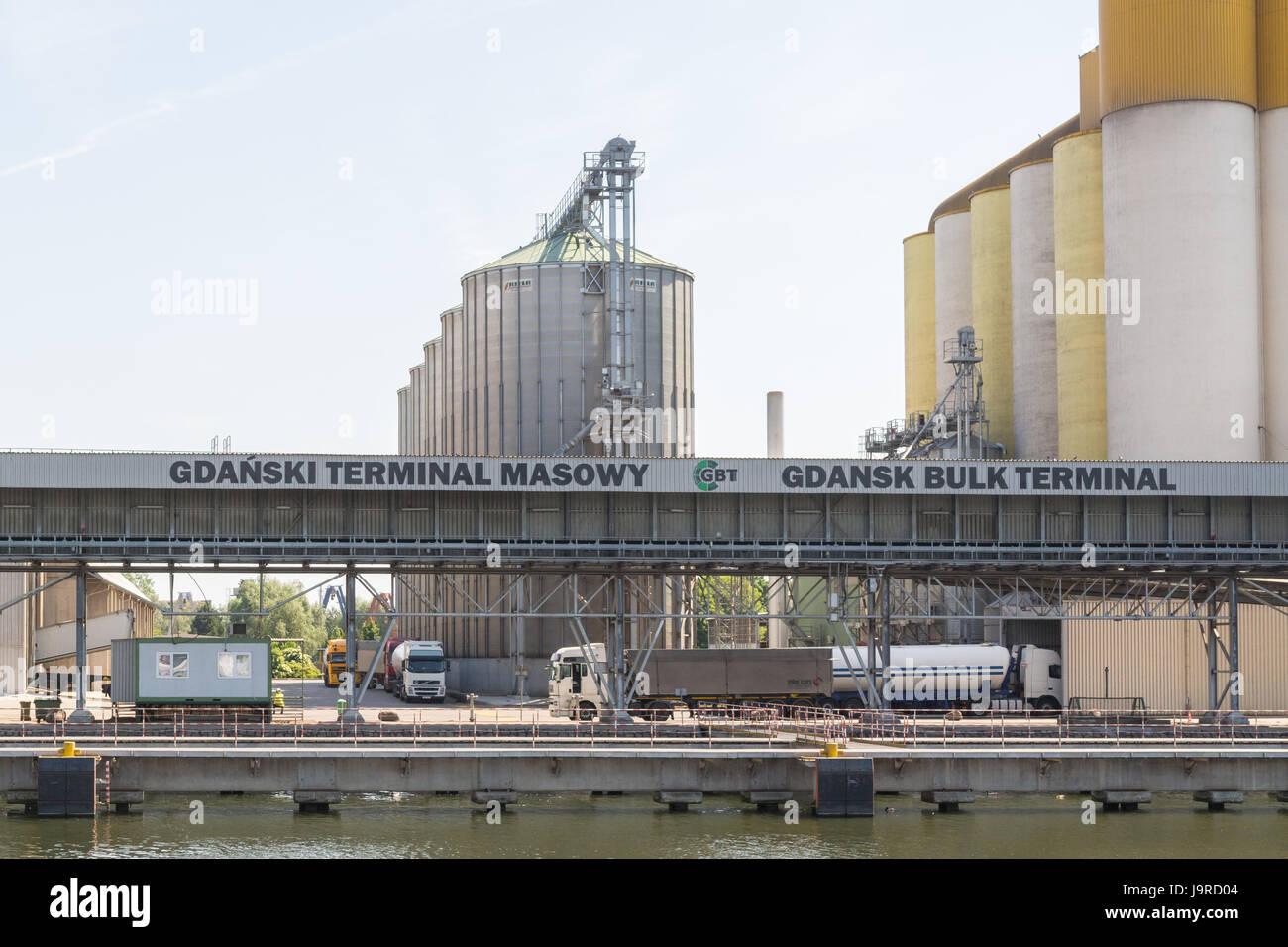 Gdansk Bulk Terminal, Bytomskie Quay, Poart of Gdansk, Poland - Stock Image