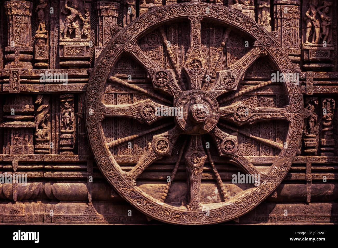The Konark Sun temple - Stock Image