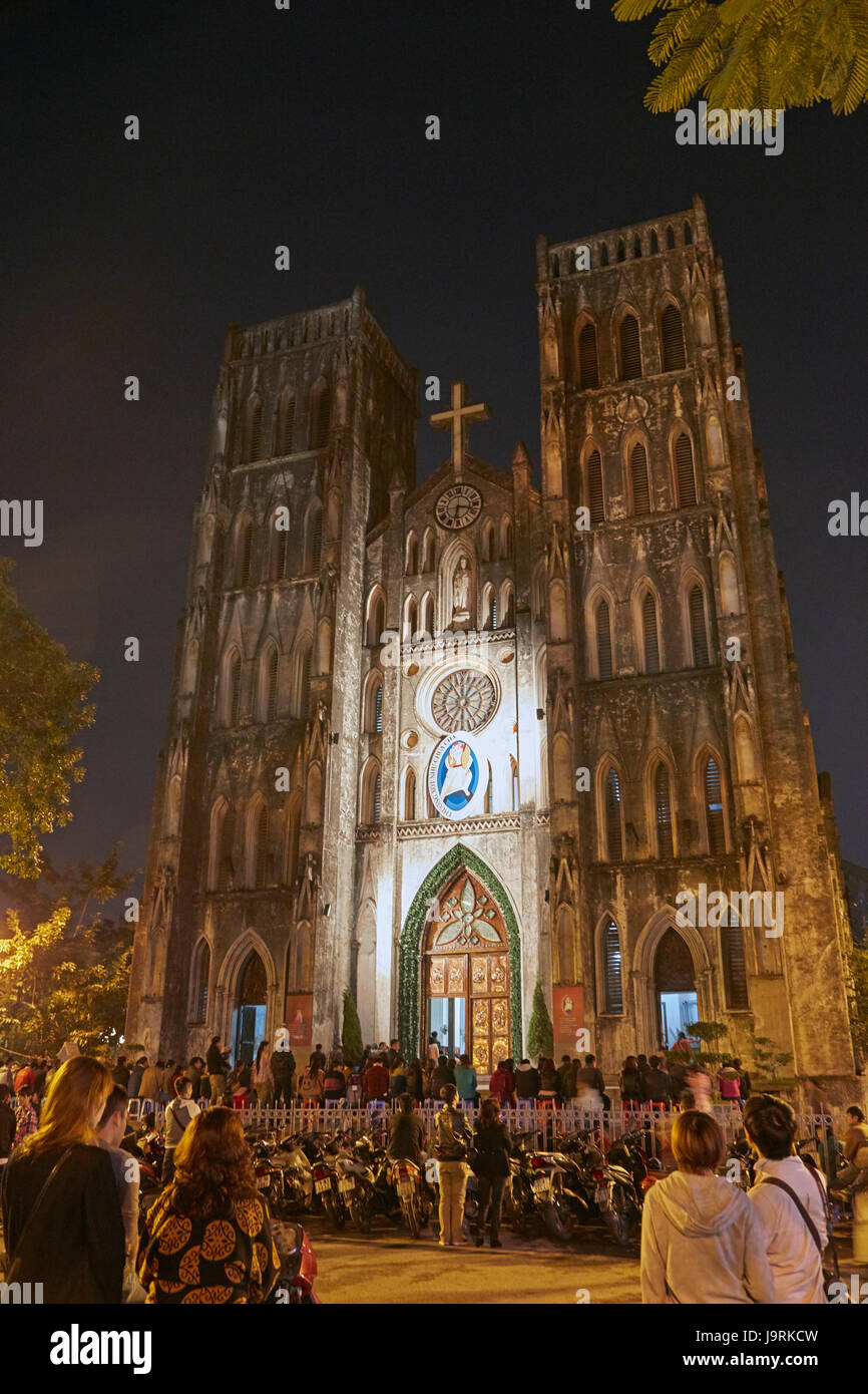 St. Joseph's Cathedral, Hanoi, Vietnam Stock Photo