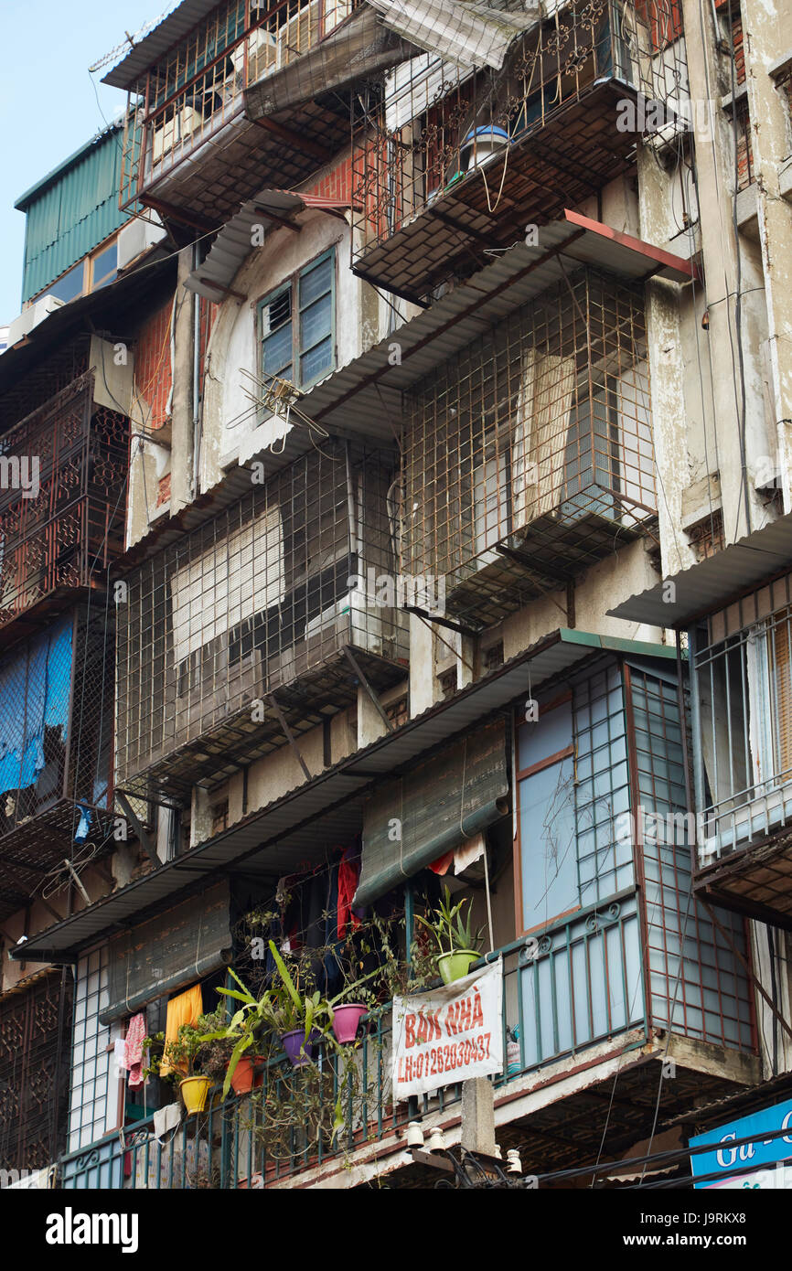 Residential apartments, Hanoi, Vietnam - Stock Image