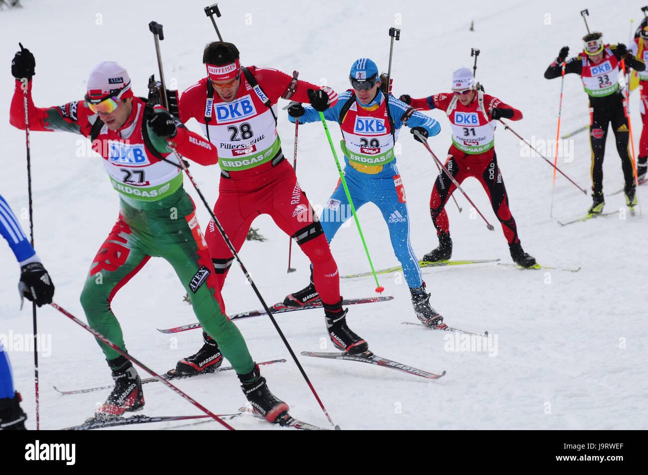 Biathlon,event,pursuit,athlete,motion, - Stock Image
