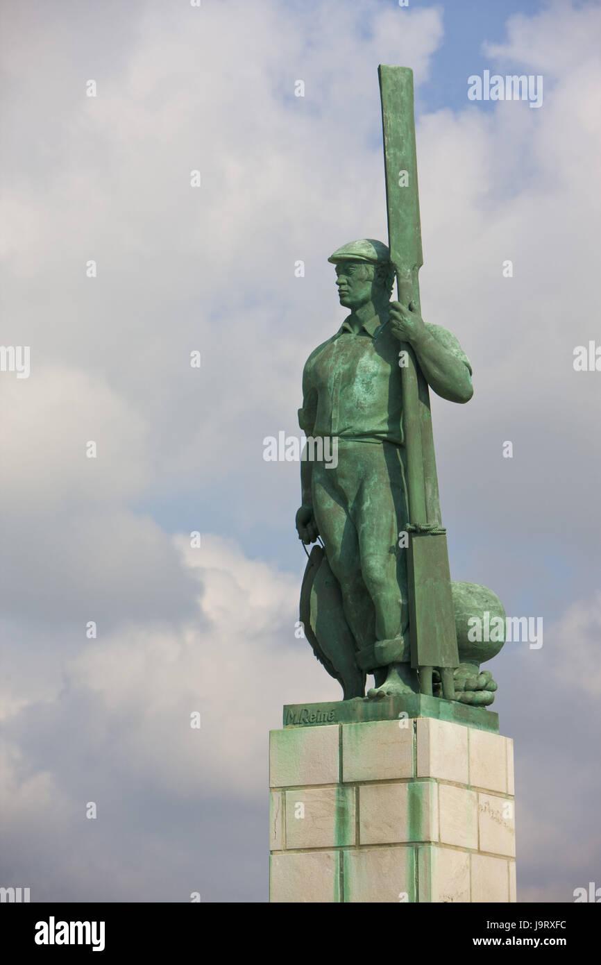 Spain,Andalusia,Tarifa,port,character,port entrance,medium close-up, - Stock Image