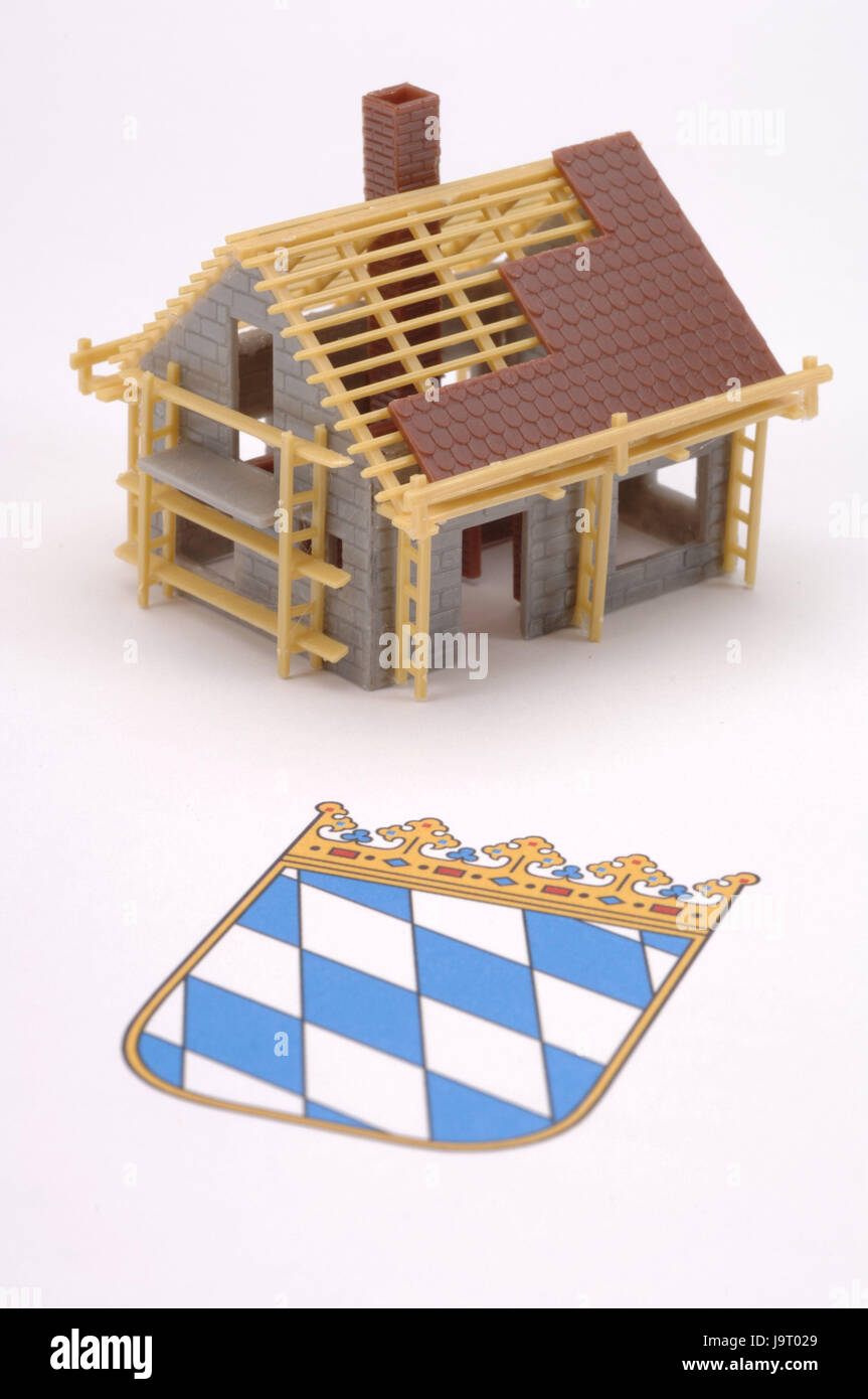 Beautiful Icon,building Of A House,model House,Bavarianu0027s Coat Of  Arms,planning,construction,coat Of Arms,real Estate,men At  Work,scaffolding,scaffold,roof Truss ...
